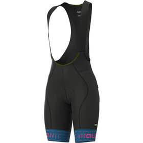 Alé Cycling Graphics PRR Green Road Bib Shorts Women azure blue/fluo pink